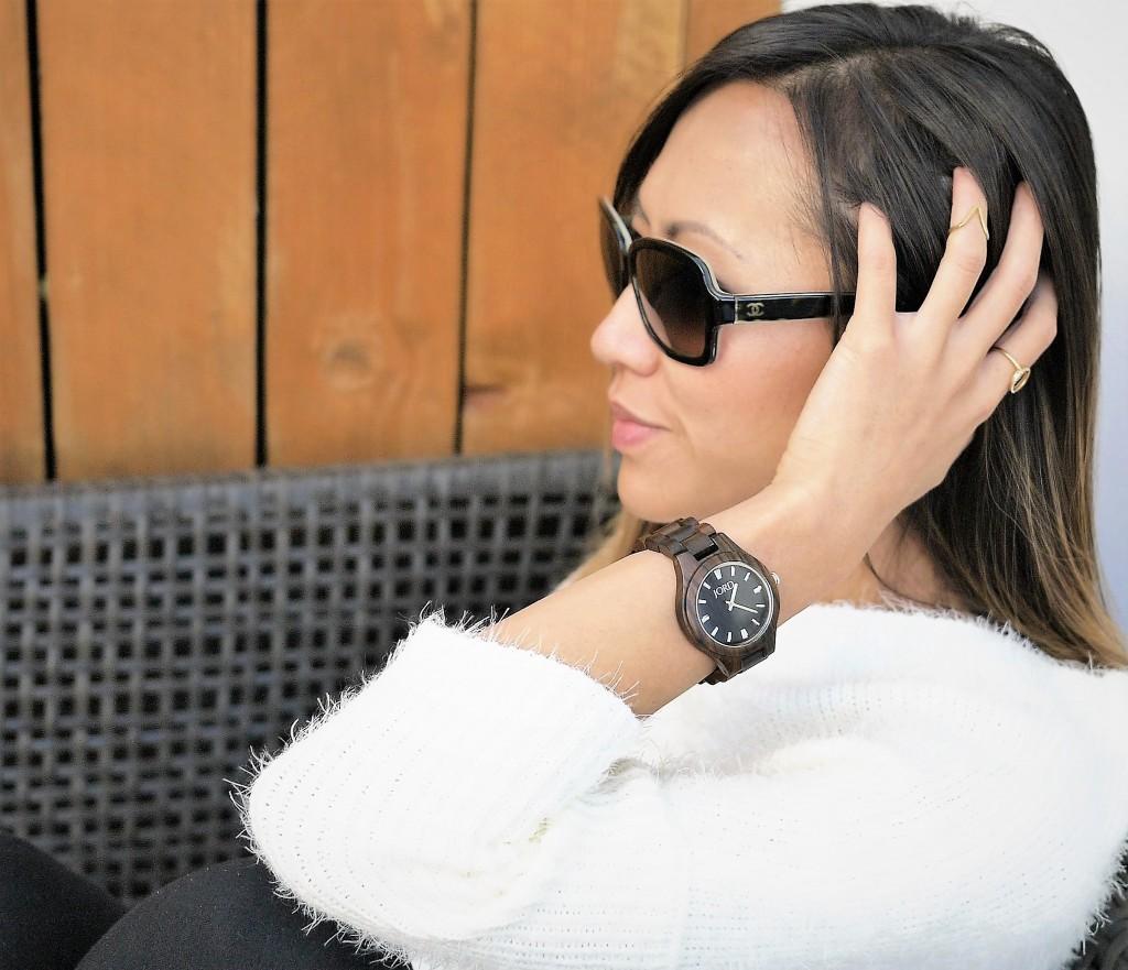 women's watch made of wood