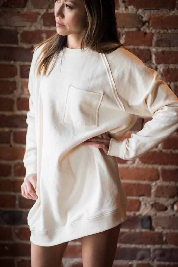 sweatshirt, sweater dress, athleisure