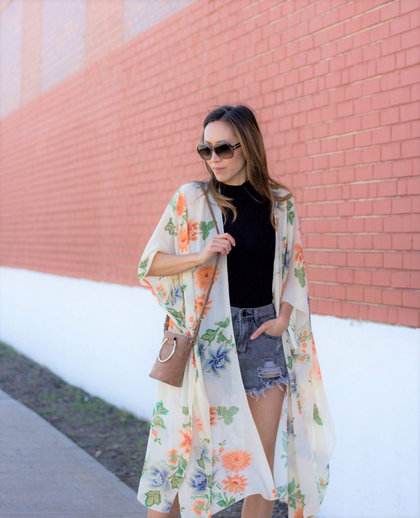 floral kimono boho gypsy