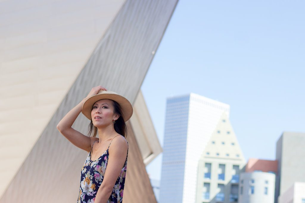 Denver downtown romwe floral dress