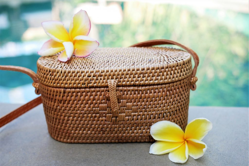 natural material basket bags
